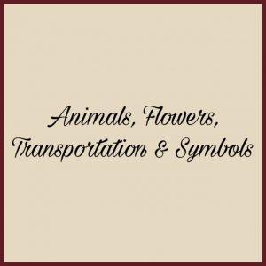 Animals, Flowers, Transportation & Symbols